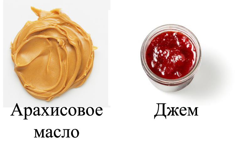 Арахисовое масло и джем