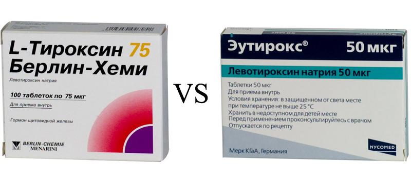 Л тироксин и эутирокс