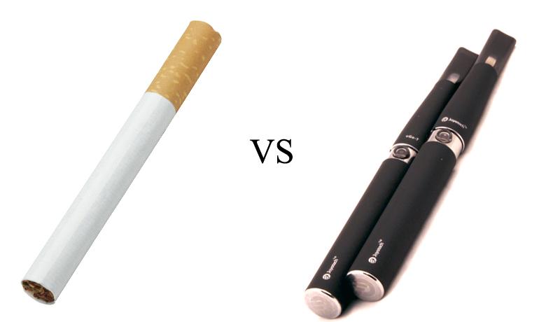 Обычная и электронная сигарета