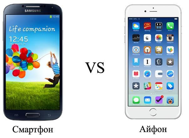 Смарфон и айфон