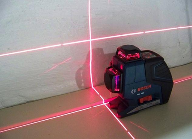 Использование лазерного уровня