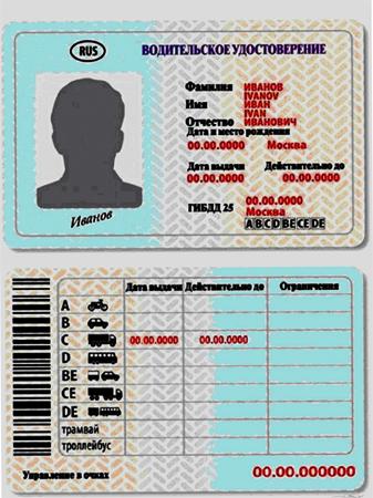 Обычные водительские права