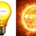 Чем лампочка отличается от солнца: описание и отличия