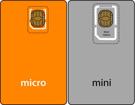 Микро и мини сим