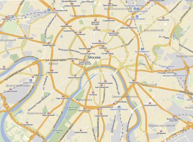 Москва в Яндекс Картах