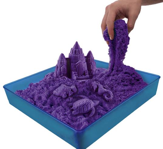 Фиолетовый кинетический песок