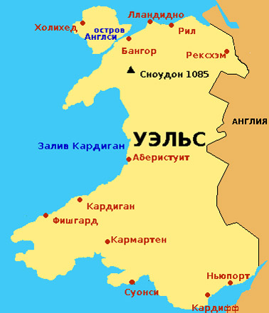Графства Уэльса