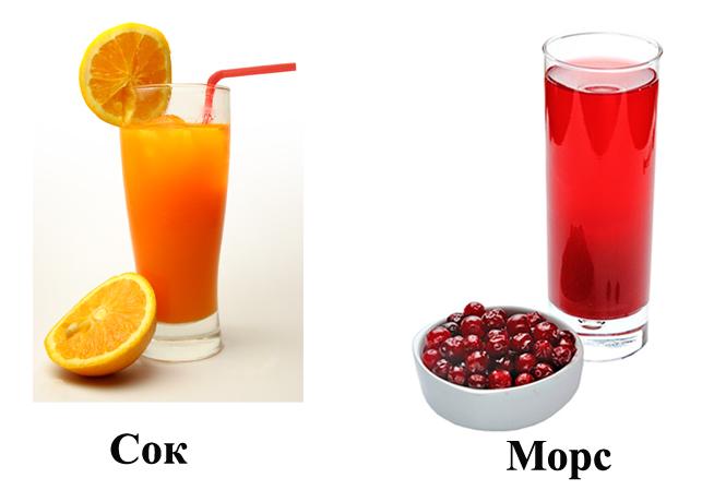 Сок и морс