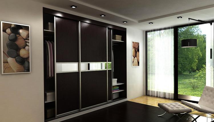 Современный встроенный шкаф