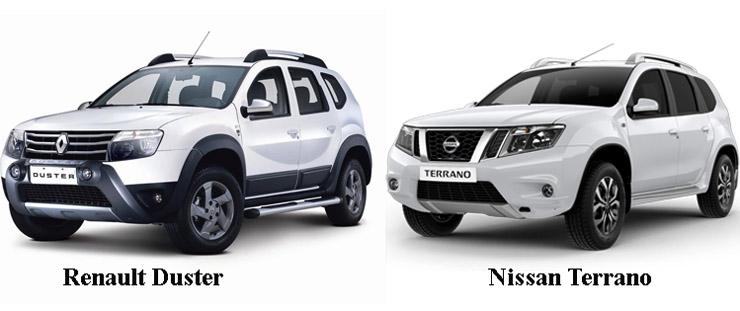Renault Duster и Nissan Terrano