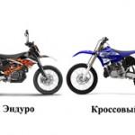 Чем отличается эндуро от кроссового мотоцикла