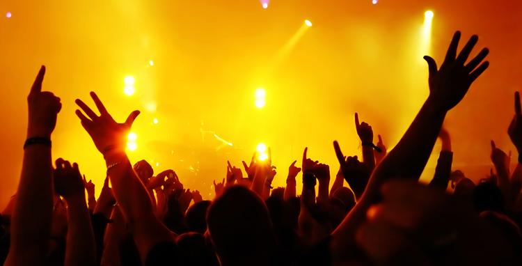 На рок концерте
