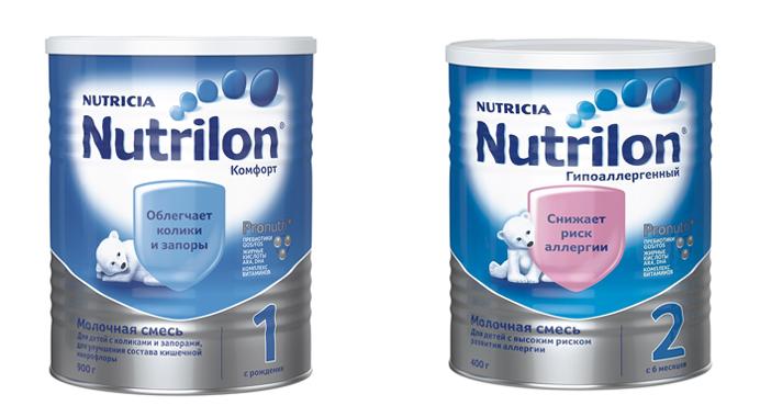 Нутрилон 1 и Нутрилон 2
