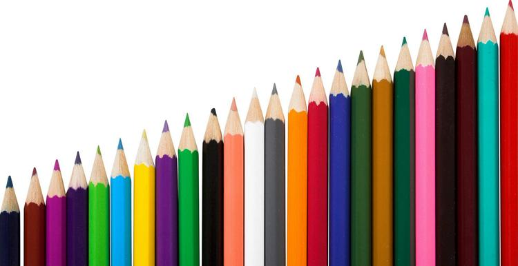 Обычные цветные карандаши