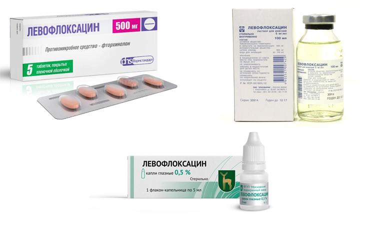 Форма выпуска Левофлоксацина