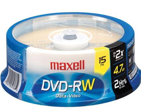 Много дисков DVD-RW