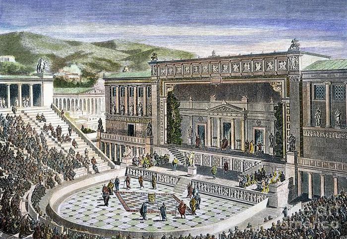 Спектакли древнегреческого театра