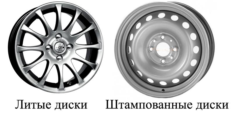 Литые и штампованные диски
