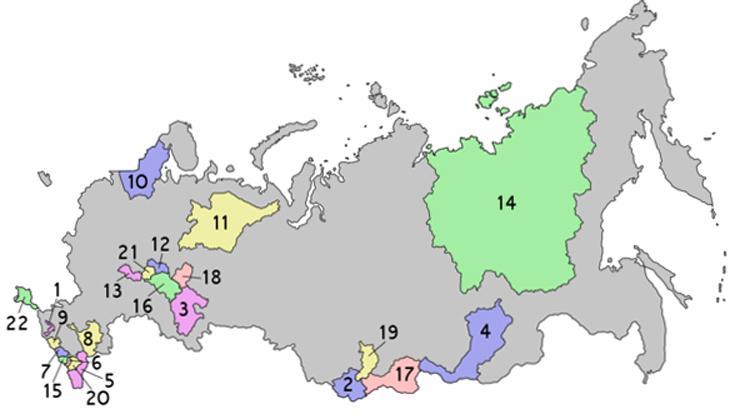 22 республики России