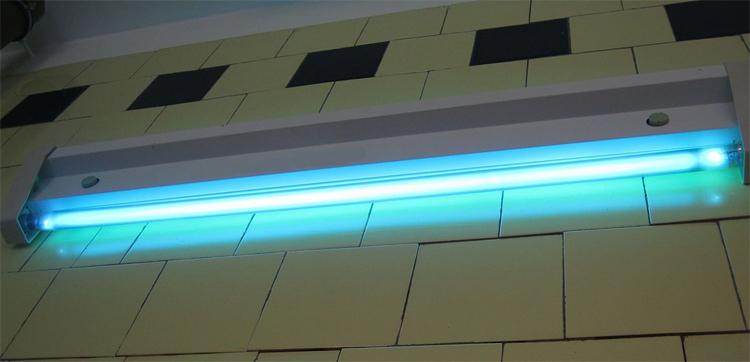 Бактерицидная лампа в действии