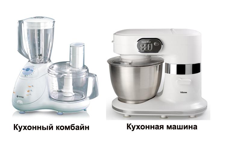 Кухонный комбайн и кухонная машина