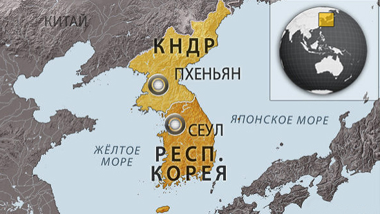 Кореи на картах
