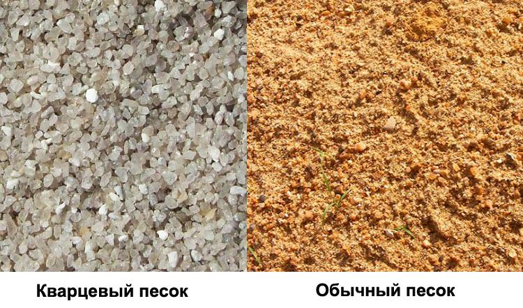 Кварцевый и обычный песок