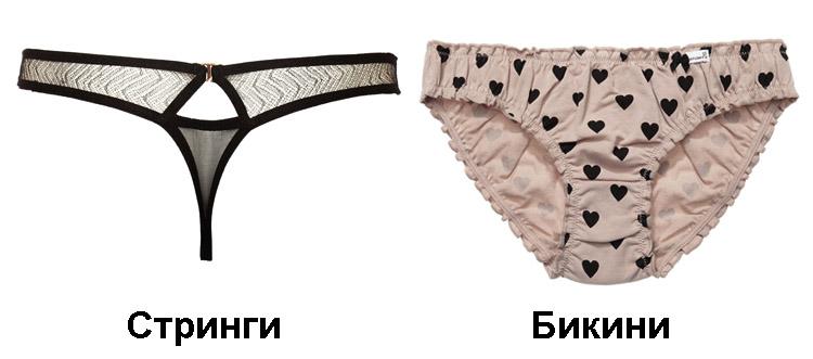 Различие танга бикини