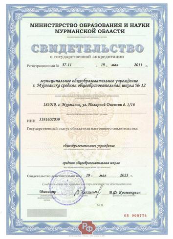Пример аккредитации