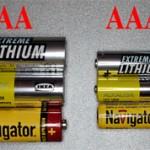 Чем отличаются батарейки стандарта AA от AAA