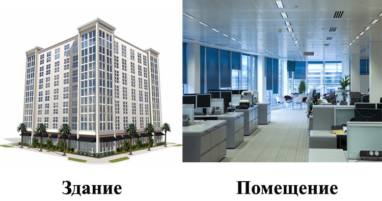 Здание и помещение
