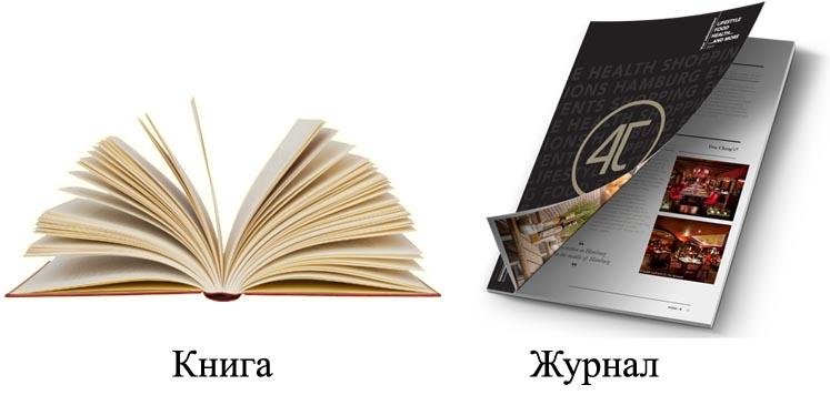 Книга и журнал