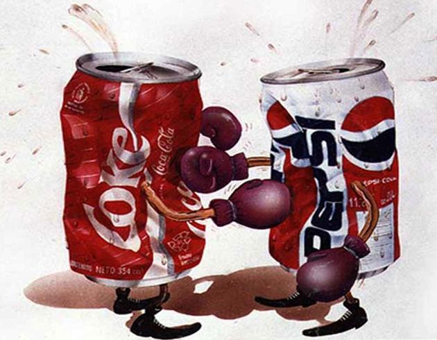 Банки колы и пепси