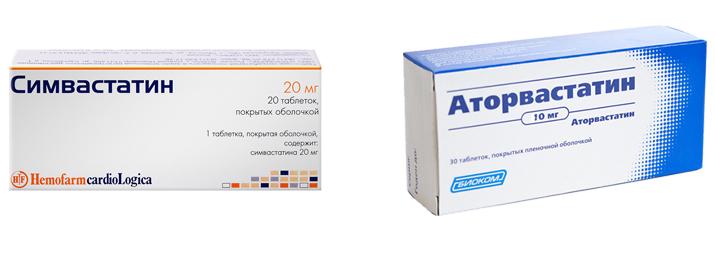 Симвастатин и Аторвастатин