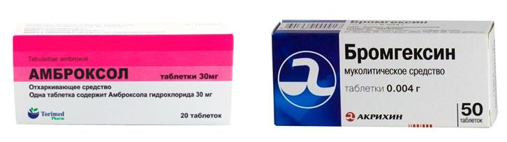 Амброксол и Бромгексин