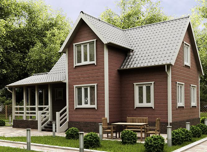 Новый каркасный дом