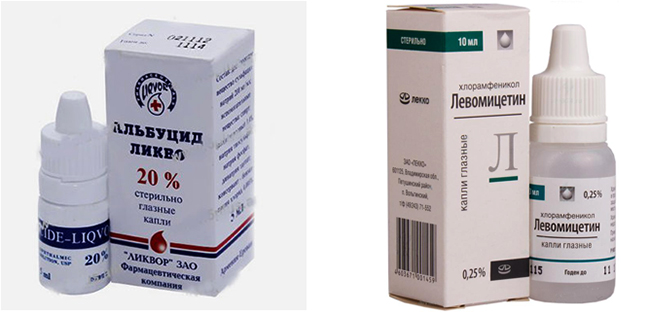 Альбуцид и Левомицетин