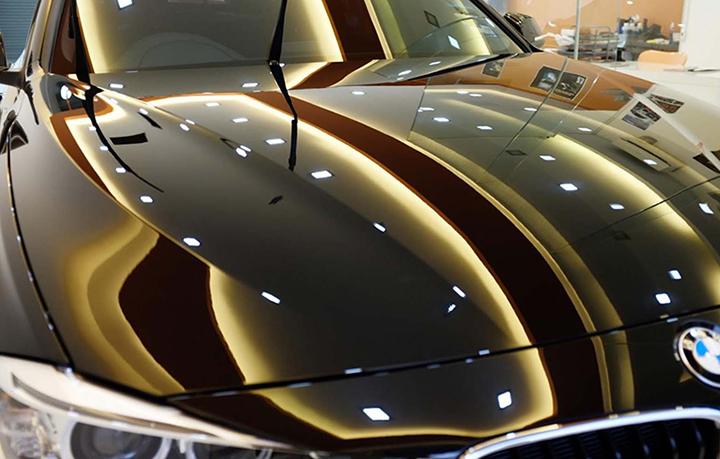 Авто, покрытое жидким стеклом
