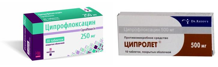 Ципрофлоксацин и Ципролет