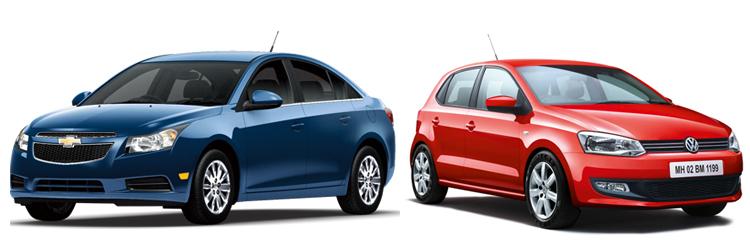 Chevrolet Cruze и Volkswagen Polo