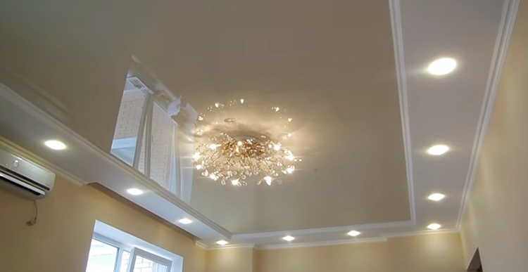 Как выглядит подвесной потолок