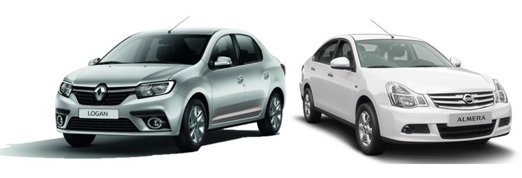 Renault Logan и Nissan Almera