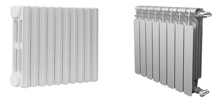 Чугунные и биметаллические радиаторы