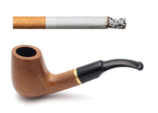 Сигарета и трубка