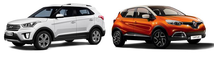 Hyundai Creta и Renault Captur