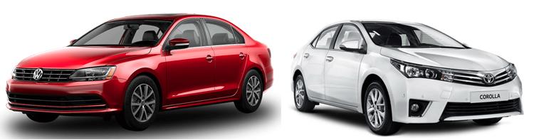 Volkswagen Jetta и Toyota Corolla
