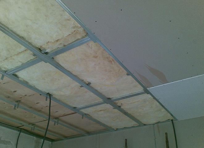 Монтаж потолка из гипсокартона
