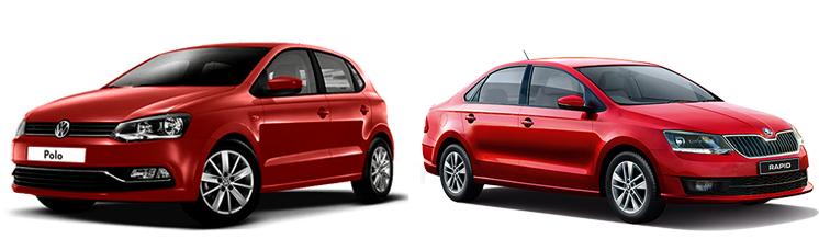 Volkswagen Polo и Skoda Rapid