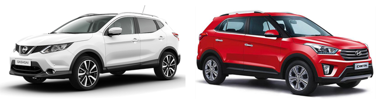 Nissan Qashqai и Hyundai Creta