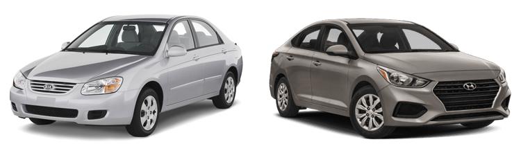 Kia Spectra и Hyundai Accent